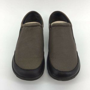 Merrell Womens Dassie Moc Clog Shoes Brown Leather